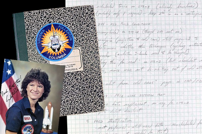 Smithsonian seeks public's help with Sally Ride's astronaut training notes