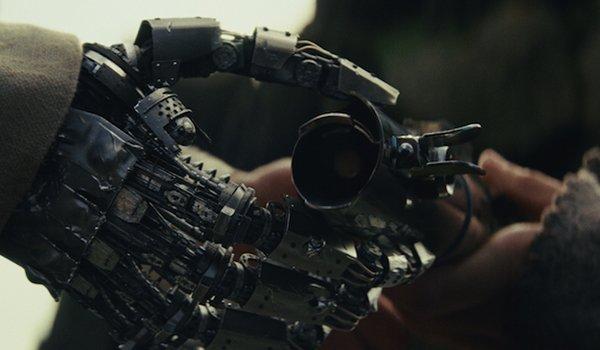 Rey returning Luke's lightsaber