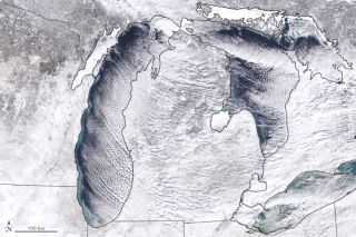 Great Lakes on Jan. 27, polar vortex