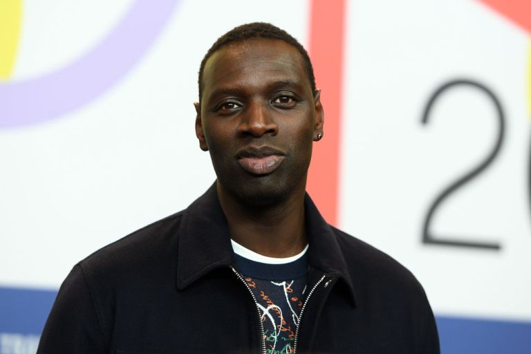 """Omar Sy is seen at the """"Police"""" (Night Shift) press conference during the 70th Berlinale International Film Festival"""