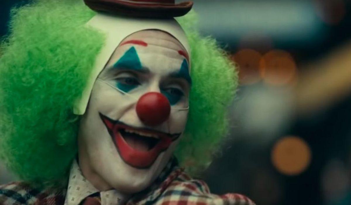 Joker in his clown costume