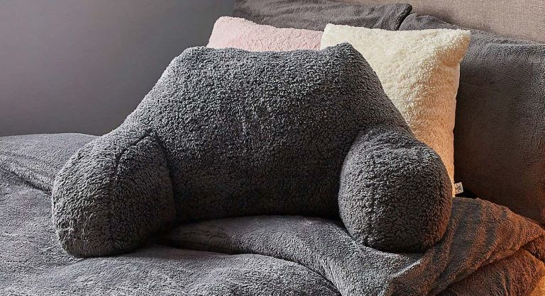 Dunelm cuddle cushion in charcoal