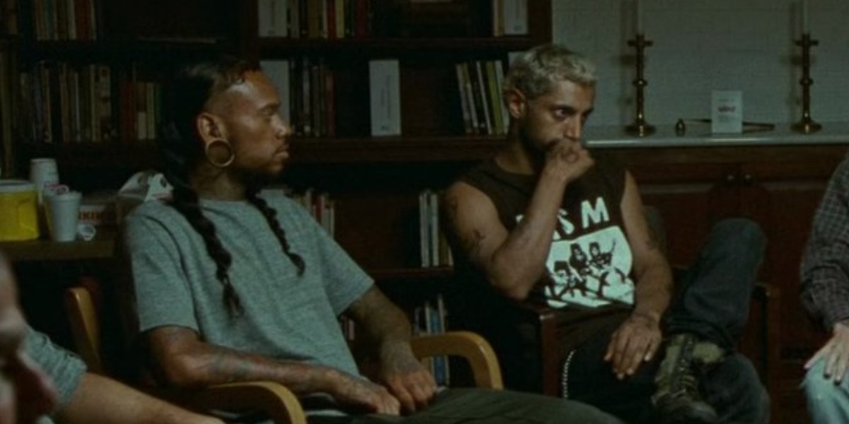 Shaheem Sanchez and Riz Ahmed in Sound of Metal