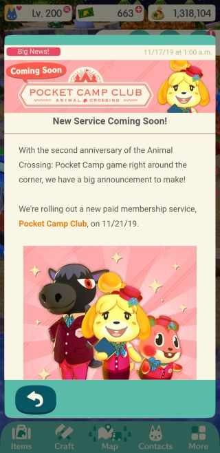 Animal Crossing: Pocket Camp's two paid subscriptions detailed by Nintendo