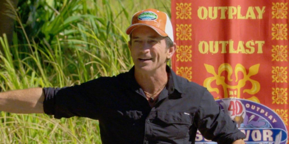 jeff probst on CBS's Survivor