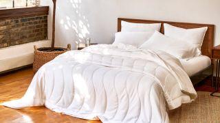 Best comforters: The Buffy Breeze Comforter in crisp white