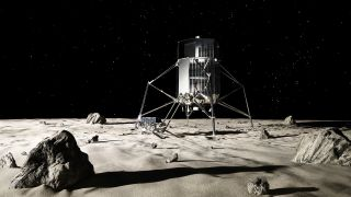 A promotional image from iSpace includes artwork depicting both a rover and a lander.