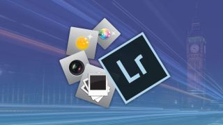Photography icons and the Adobe Lightroom logo