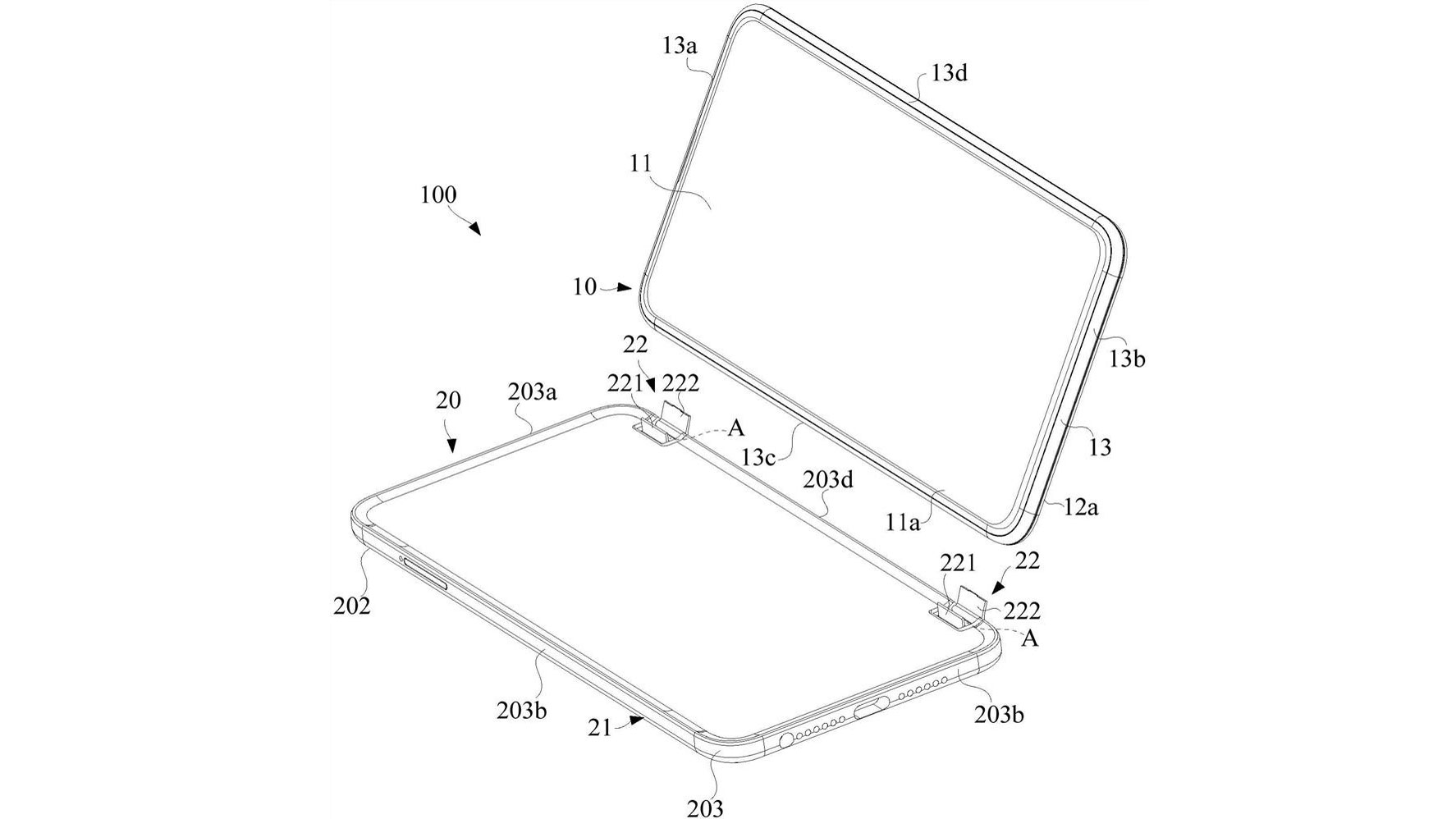 Oppo dual-screen phone patent