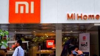 Xiaomi logo on storefront