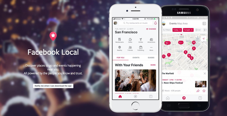 Facebook Local app