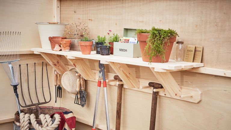 shed storage ideas: the posh shed company shelving