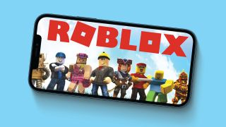 Roblox being played on a mobile device
