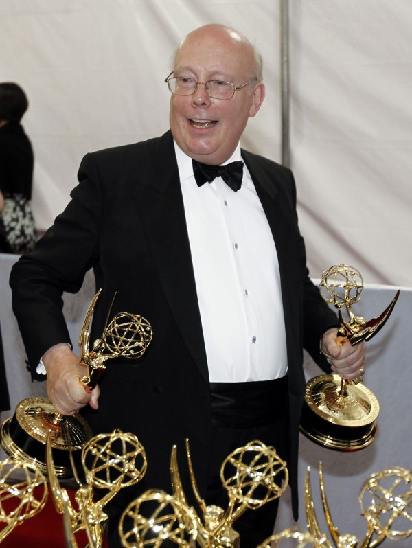 Julian Fellowes with Emmy awards