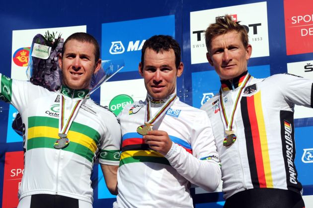 Mark Cavendish wins elite men's road race, Road World Championships 2011