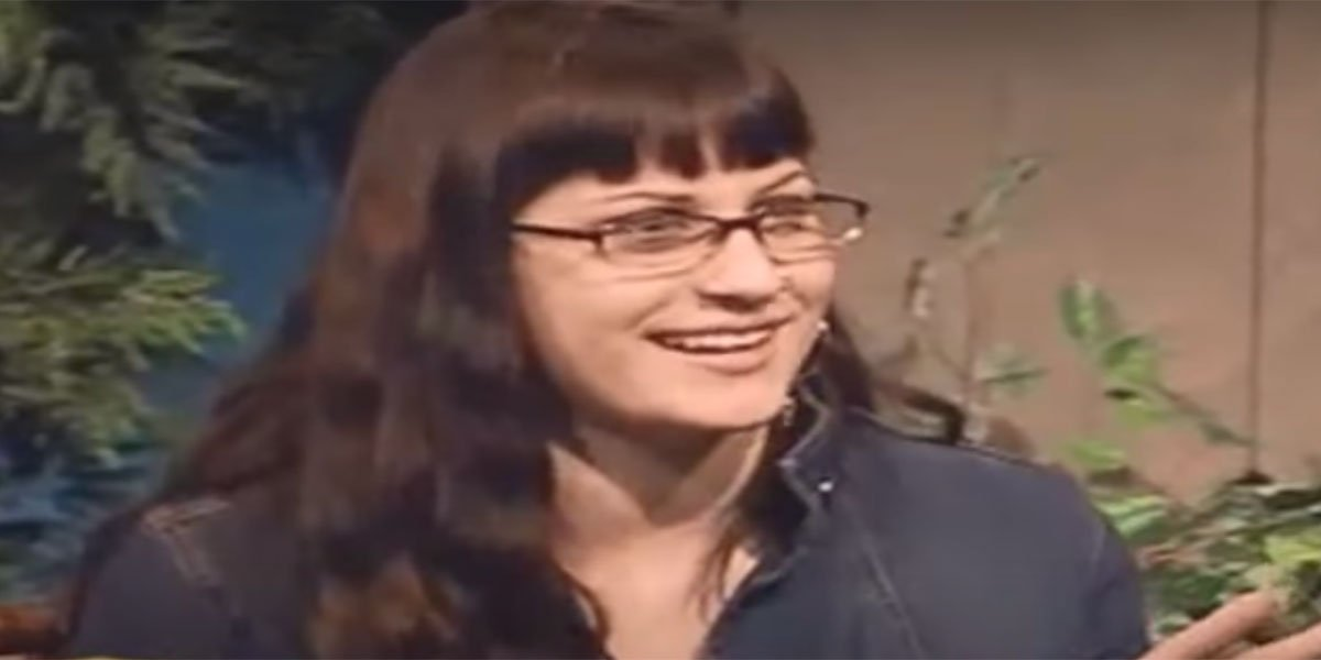 Angie Jakusz giving an interview after being eliminated on Survivor.