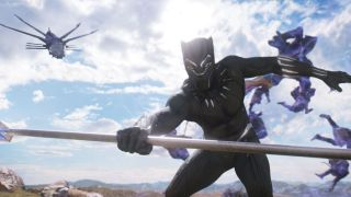 Black Panther movie fight scene