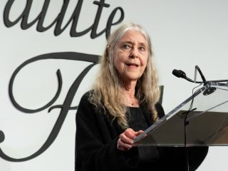 Margaret Hamilton accepted an award at the Intrepid Museum in New York City on May 23, 2019.