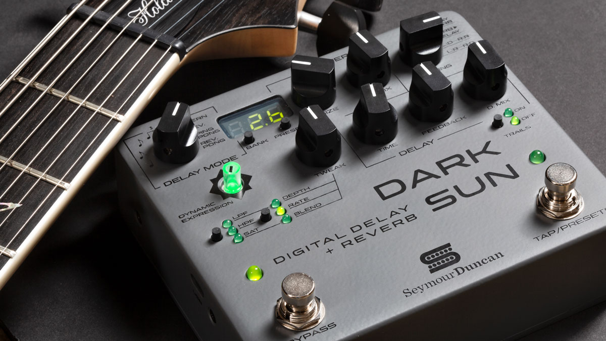 Seymour Duncan teams up with Mark Holcomb for Dark Sun digital delay and reverb
