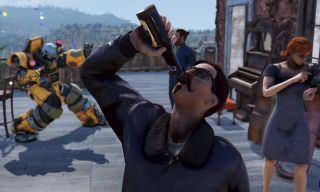 Fallout 76 guy drinking beer