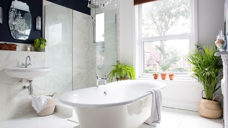 Peter Grech transformed his bathroom into a stylish sanctuary, and won our 2018 Real Homes award for best bathroom