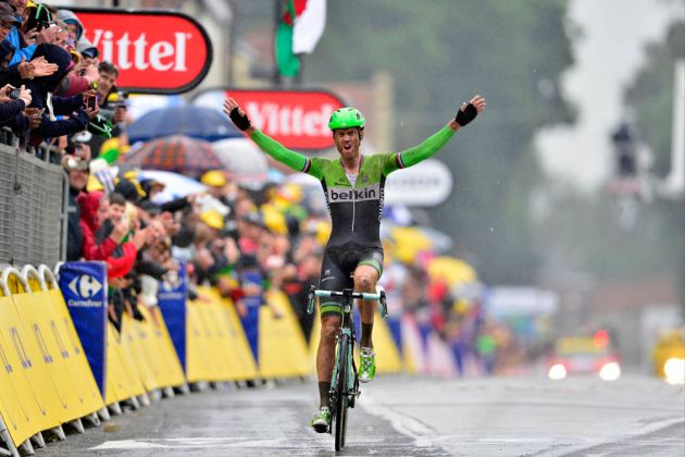 Lars Boom wins Stage 5 of the 2014 Tour de France