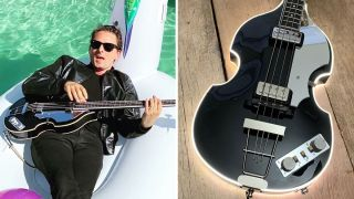 Matt Bellamy and custom Manson violin bass