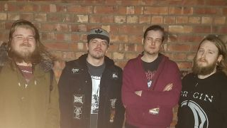 The band Slugdge with Black Dahlia Murder drummer Alan Cassidy and Novena bassist Moat Lowe