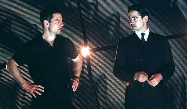 Colin Farrell and Tom Cruise in Minority Report