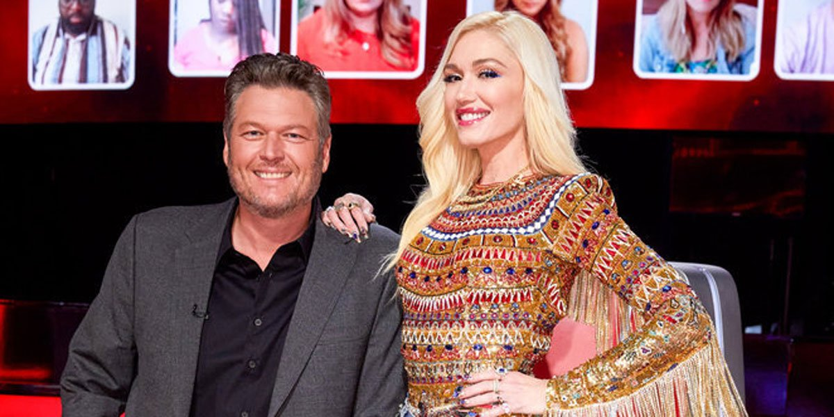 Gwen Stefani and Blake on The Voice, photo courtesy of Trae Patton