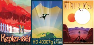 Art Deco-Inspired NASA Travel Posters