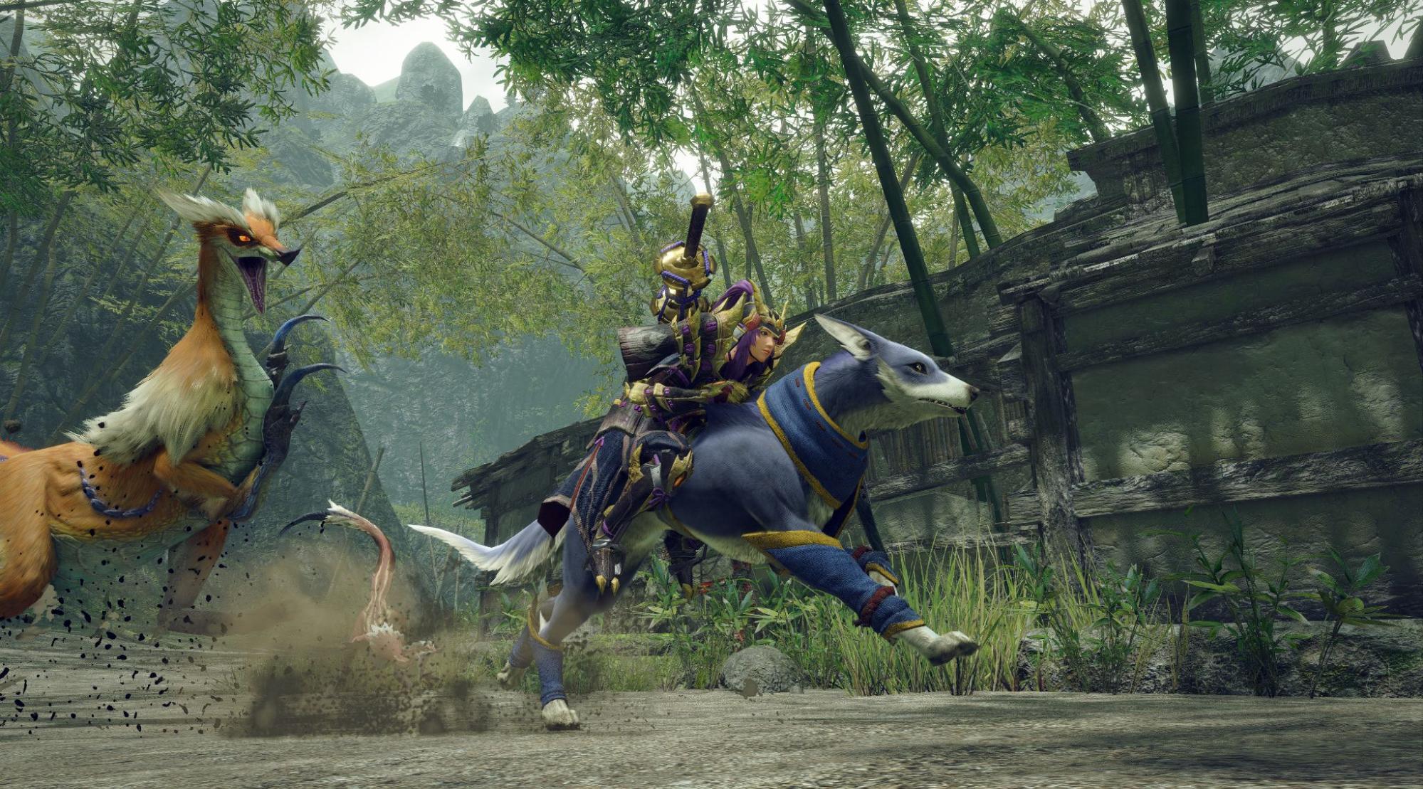 Monster Hunter Rise Palamute Riding