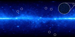 A view of the universe from NASA's Fermi Gamma-ray Space Telescope.