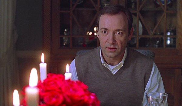 Kevin Spacey gets creepy in American Beauty