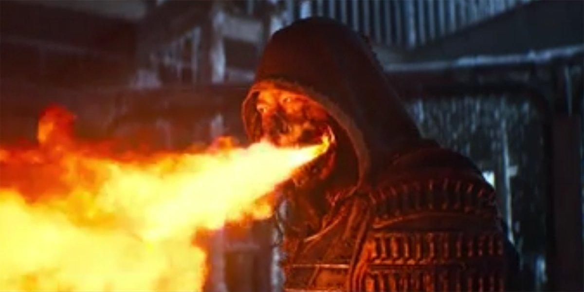 Scorpion Burns Sub-Zero Mortal Kombat
