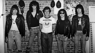 a shot of danny fields and the ramones
