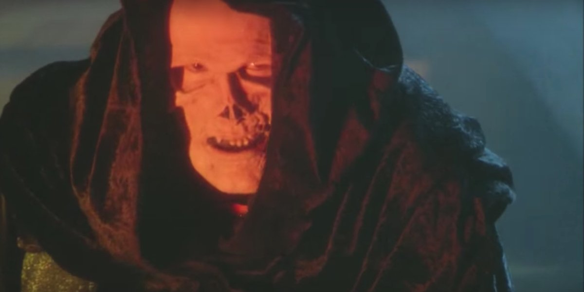 Skeletor (Frank Langella) trying to find his good side