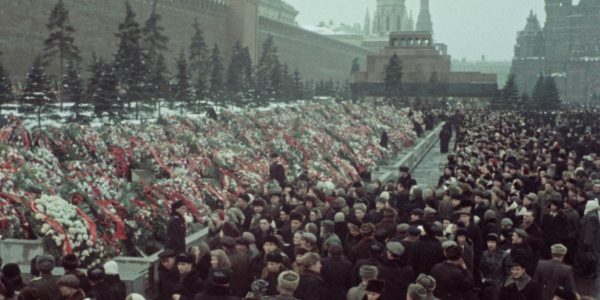 Mourners at Stalin's funeral in State Funeral