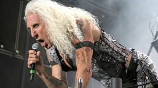 A picture of Dee Snider during Twisted Sister's headline slot at Bloodstock 2016