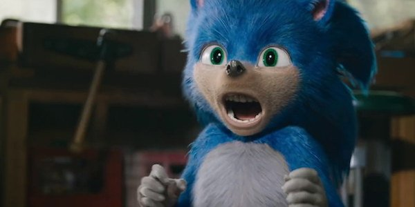 Sonic the Hedgehog screaming in fright