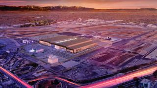 A rendering of Relativity Space's future factory space in Long Beach, California.