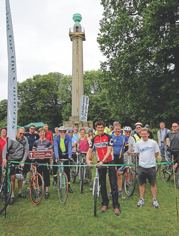 Mark Webber opens Chilterns Cycleway