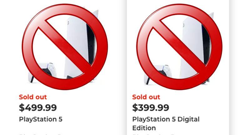 Sony PS5 stock