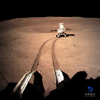 Yutu 2 Makes Tracks on Moon's Far Side