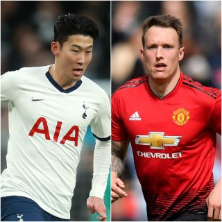 Son Heung-min and Phil Jones