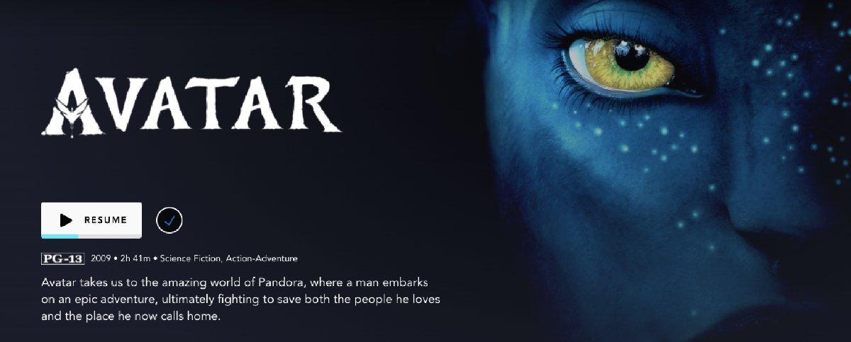 Avatar Disney+ title card