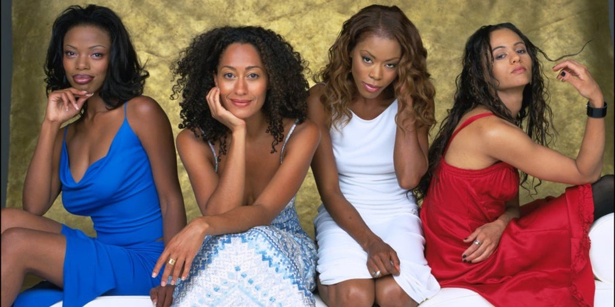 Tracee Ellis Ross, Golden Brooks, Persia White, and Jill Marie Jones in Girlfriends