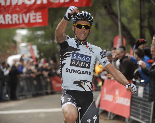 Alberto Contador wins stage, Tour of Murcia 2011, stage two