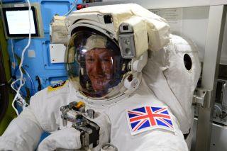 ESA Astronaut Tim Peake Final Suit Check