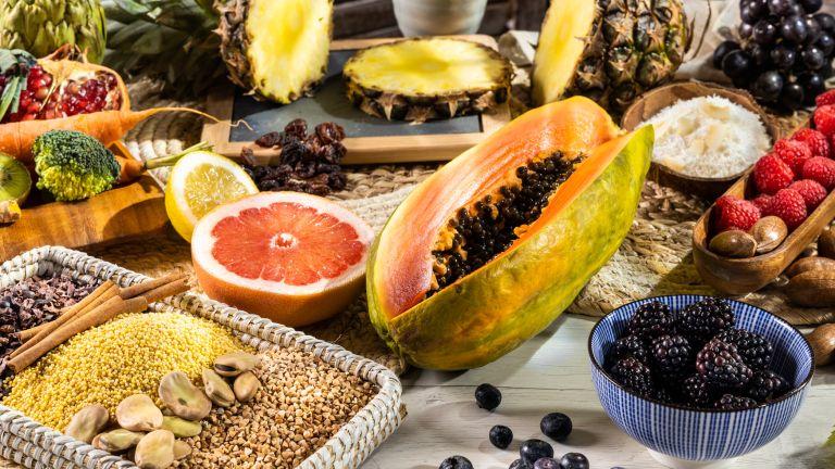 table full of fruit